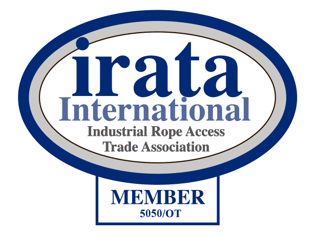 irata medlems logo, kun gyldigt at bruge for certificerede medlemmer